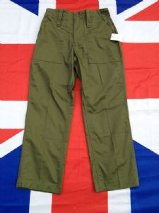 ARMY MILITARY GREEN BRITISH LIGHT WEIGHT TROUSERS